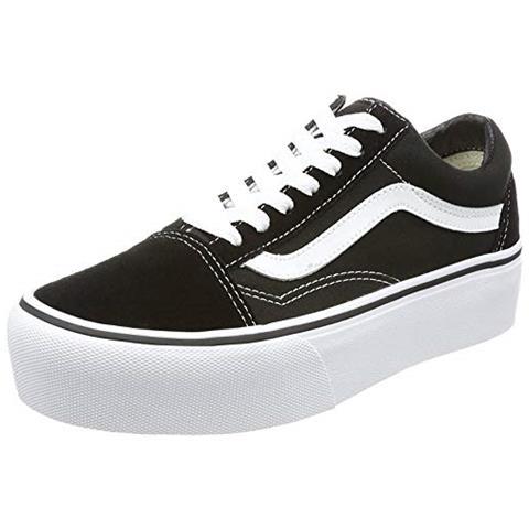 adidas Vans Old Skool Platform, Sneaker Donna, Nero (nero / bianco Y28), 40.5 Eu