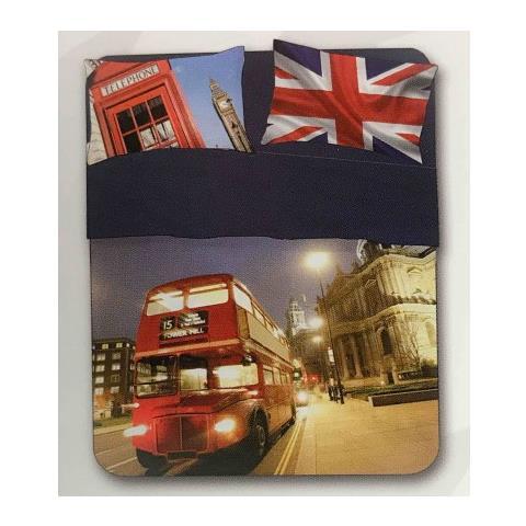 Lenzuola Matrimoniali In Inglese.Tex Family Completo Lenzuolo Copriletto Digitale Londra Inglese