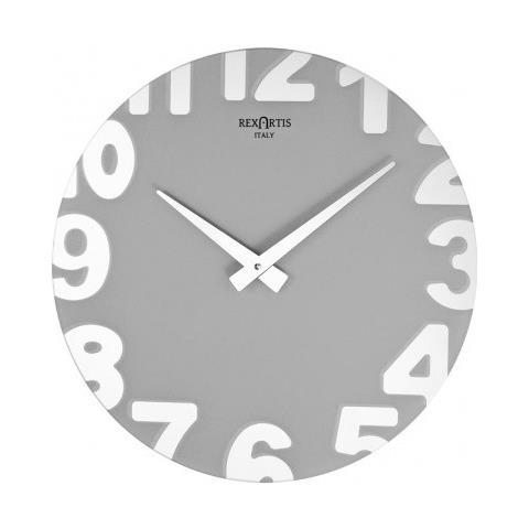 REXARTIS Orologio Da Parete Moderno Colore Giallo In Specchio Serigrafato  Della Nuova Collezione \