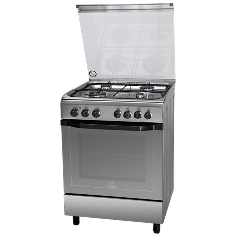 INDESIT Cucina Elettrica I6TMH2AF (X) / I 4 Fuochi Gas Forno Elettrico  Multifunzione Classe A Dimensione 60 x 60 cm Colore Inox