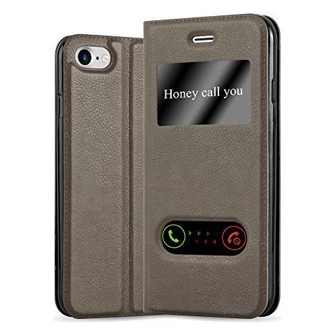 Cadorabo Custodia Libro Per Apple Iphone 7 / Iphone 7s / Iphone 8 In Bruno Pietra - Con Funzione Stand E Chiusura Magnetica - Portafoglio Cover Case ...