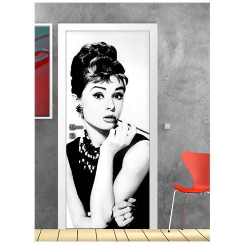 Adesivi Murali Audrey Hepburn.Adesivi Creativi Adesivo Murale Porta Audrey Hepburn Dimensioni 60