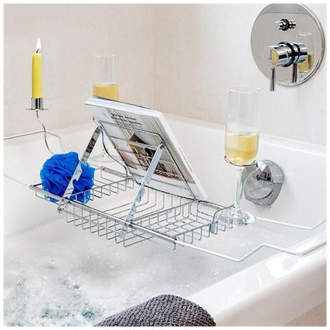 Accessori Per Vasca.Bigbuy Home Supporto In Metallo Per Vasca Da Bagno Per Accessori V0300908