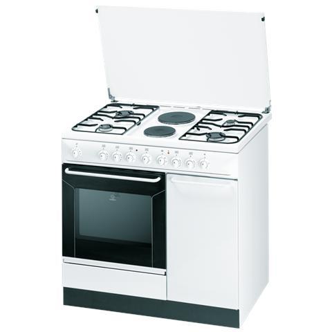 INDESIT Cucina Elettrica K9B11S (W) / I S 4 Fuochi 2 Piastre Forno  Elettrico Dimensioni 90 x 60 cm Colore Bianco