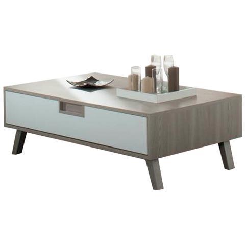 Tavolino X Salotto.Argonauta Tavolino Da Salotto Con Cassetto Olmo Bianco Laccato Cm
