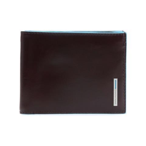 749d82ee63 Piquadro - - Portafoglio Uomo Con Porta Monete In Pelle Blue Square  -pu1239b2r - ePRICE
