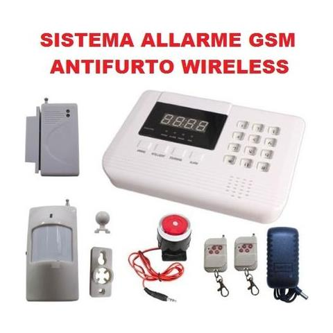Easyelettronica Sistema Di Allarme Gsm Antifurto Casa Ufficio Garage Wireless Combinatore Telefonico Lcd Con Sirena Eprice