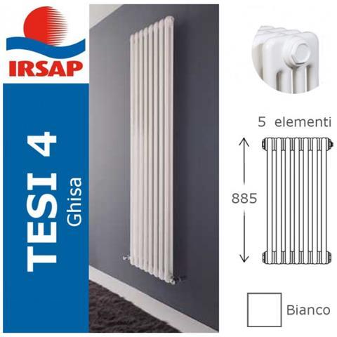 IRSAP Radiatore Tesi Ghisa, Batteria 885/4, 5 Elementi, Bianco
