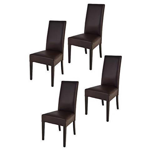 Sedie Moderne In Ecopelle.Tommychairs Set 4 Sedie Luisa Per Cucina Sala Da Pranzo Eleganti E Moderne Struttura In Legno Di Faggio Verniciato Bianco Seduta E Schienale