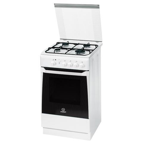 INDESIT - Cucina a Gas KN1G2S (W) / I S 4 Fuochi a Gas Forno a Gas ...