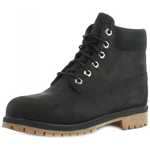 uk availability 44223 ccfbb TIMBERLAND 6 In Premium Scarponcini Donna Neri Pelle 37