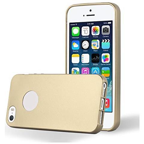 Cadorabo Custodia Per Apple Iphone 5 / Iphone 5s In Oro Metallico - Morbida Cover Protettiva Sottile Di Silicone Tpu Con Bordo Protezione - Ultra Slim ...