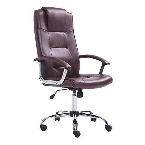 Sedie Da Ufficio Marrone.Homcom Poltrona Sedia Da Ufficio Dirigenziale Sedia Regolabile