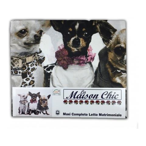 Lenzuola Matrimoniali Con Cani.Tex Family Completo Lenzuolo Lenzuola Cane Cani Chihuahua Matrimoniale 2 Piazze