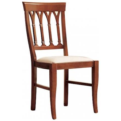 Sedie Di Legno Imbottite.Estea Mobili Sedia In Legno Seduta Imbottita