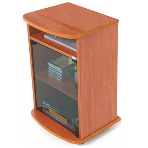 Mobile Porta Tv Ciliegio.Argonauta Carrello Porta Tv Mobile Color Ciliegio Con Vetrina Cm 47x40xh 73