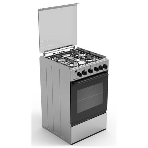 BOMPANI - Cucina a Gas BI513EA / N 4 Fuochi Forno a Gas Classe A ...
