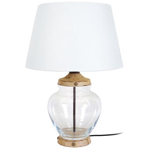 miliboo Lampada Da Tavolo Design In Vetro E Legno Pukka