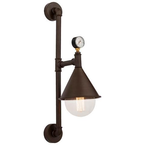 Homemania - Lampada A Parete Nevada Marrone Industriale Retrò ...