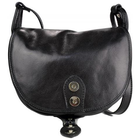 0fd4ebb670 ShopSmart Borsa Donna Pelle Tracolla A Spalla Nero Borsa Vera Pelle Hobo Bag