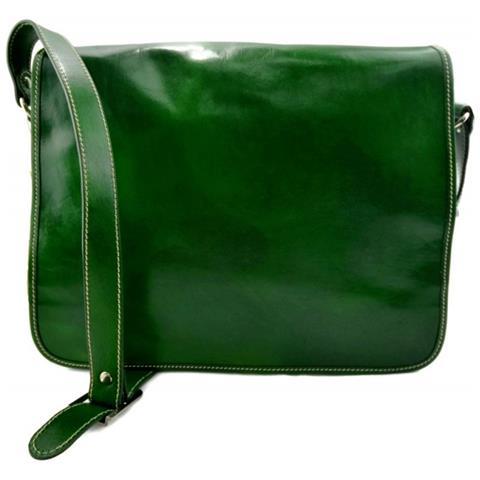 fc16e5c5fa ShopSmart - Borsa Pelle Uomo Messenger Uomo Donna Tracolla Postino  Messenger Pelle Verde - ePRICE