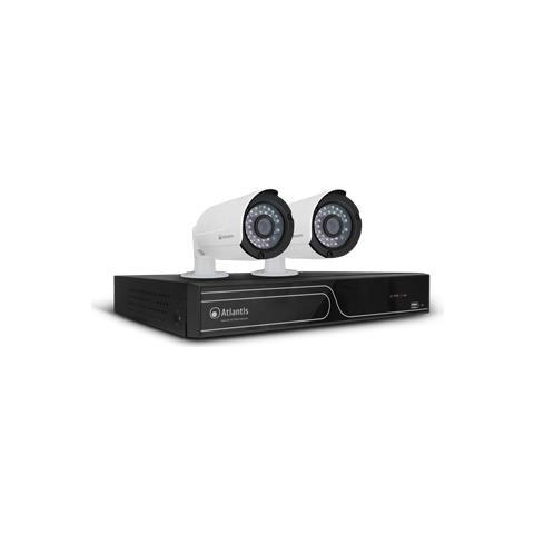 Kit Videosorveglianza con Registratore Digitale 16 Canali e 2 Videocamere IP Bullet Full HD