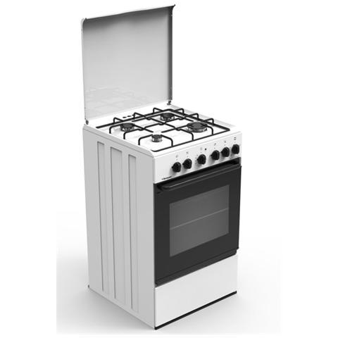 BOMPANI - Cucina Elettrica BI540GA / N 4 Fuochi Forno Elettrico ...