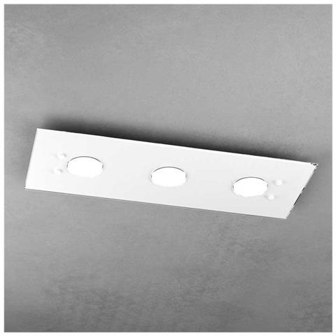 Plafoniera Moderna Led.Toplight Plafoniera Moderna Led 3xgx53 Vetro Bianco L 40 X 20 Cm Rettangolare