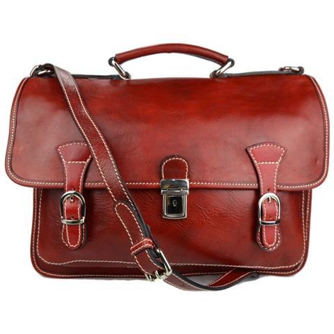 ShopSmart - Borsa Uomo Donna Cartella Valigetta Zaino Uomo 24 Ore Vera Pelle  Rosso - ePRICE 55f63547c16