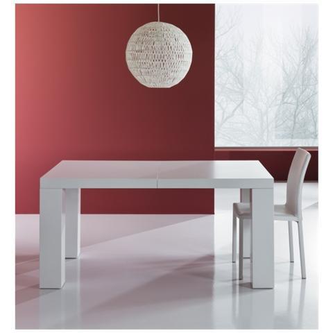 Tavolo Allungabile Laccato Bianco.Tomasucci Tavolo Allungabile Realizzato In Mdf Laccato Bianco