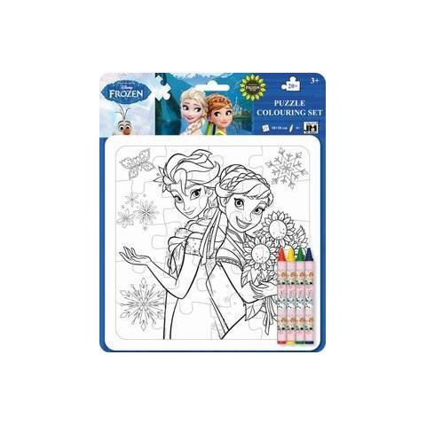 Walt Disney Frozen Puzzle Da Colorare 20 Pezzi 18x18cm Con 4