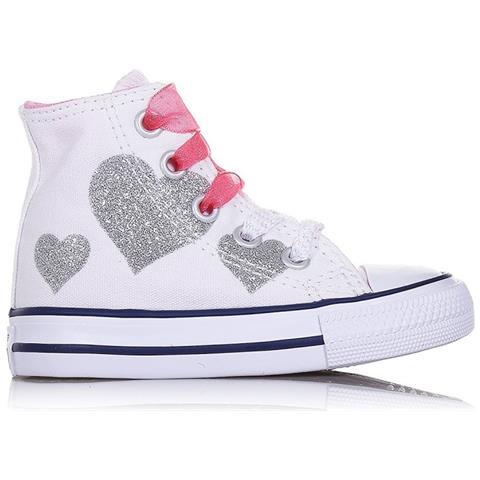 sports shoes fe5e2 73ce1 CONVERSE Scarpe Bambina Ct All Star Taglia 27 - Colore: Bianco / fantasia