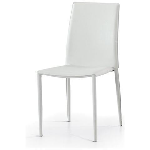 Storm - Set 6 sedie felix 2 ecopelle bianca - ePRICE