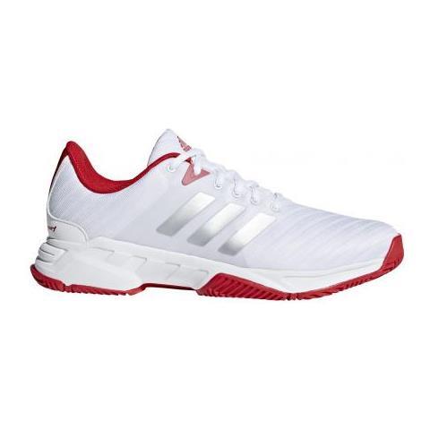 online retailer a2abf 13638 adidas - Barricade Court 3 White  matte Silver  scarle Scarpe Tennis Uomo  Uk 11 - ePRICE