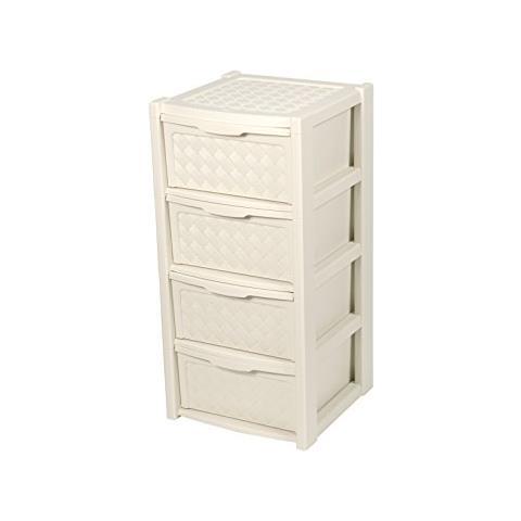 Cassettiere Plastica Tontarelli.Tontarelli Cassettiera In Plastica 4 Cassett 39x39xh 82 Cm Angora