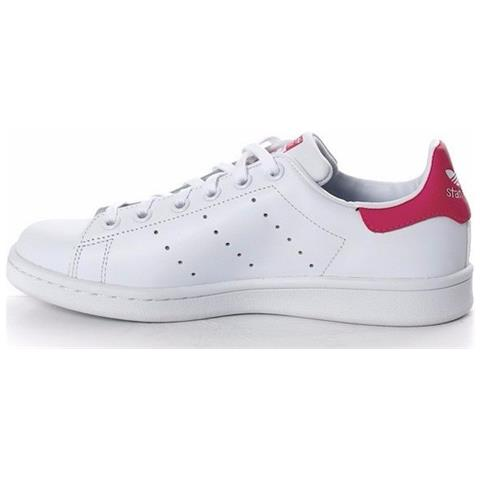 d163a36d97d8ef Adidas - Stan Smith Scarpe Sportive Donna Bianche Rosa B32703 38 ...
