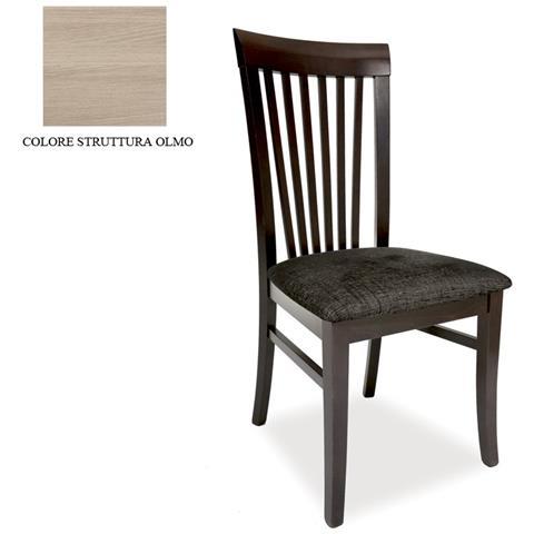 ARGONAUTA - Sedia In Legno Massello Colore Olmo E Seduta In Tessuto ...