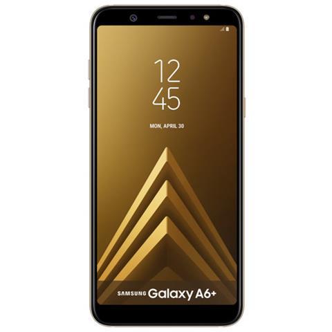 Galaxy A6+ Oro Dual Sim Display 6' Full HD+ Octa Core Ram 3GB Storage 32GB + MicroSD Wi-Fi + 4G Fotocamera 16Mpx Android 8.0 - Italia