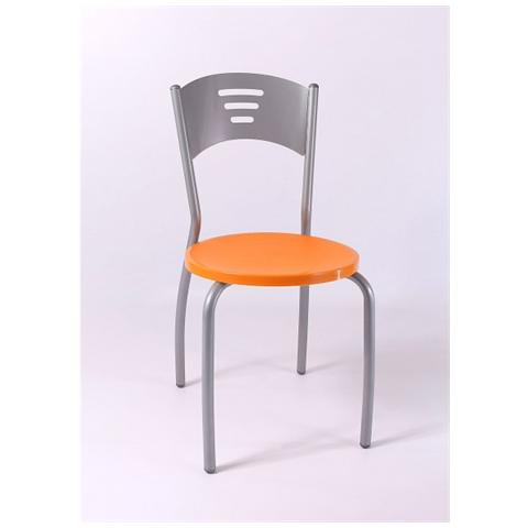 Sedute In Plastica Per Sedie.Stil Sedie Sedia Monika Struttura Metallo Verniciato Alluminio Con