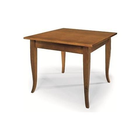 Tavolino Da Salotto Arte Povera Prezzi.Estea Mobili Tavolo Quadrato Fisso 90x90 Legno Col Noce Arte