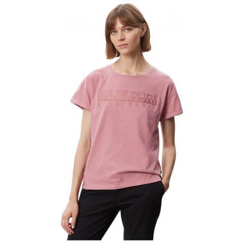 NAPAPIJRI Uomo T-Shirt a manica corta con logo rosa