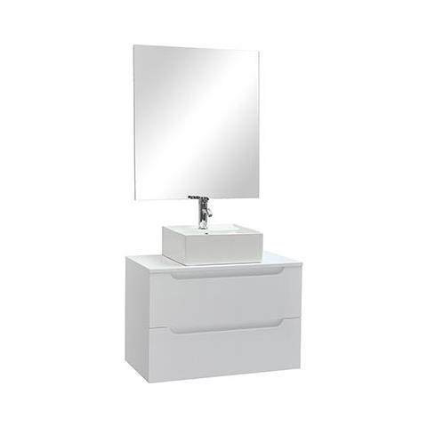 Mobile Specchio Da Bagno.Miliboo Mobile Da Bagno Specchio E Cassetti Bianco Senza
