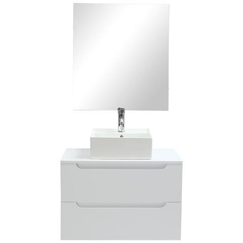 Specchio Bagno Bianco.Miliboo Mobile Da Bagno Specchio E Cassetti Bianco Senza