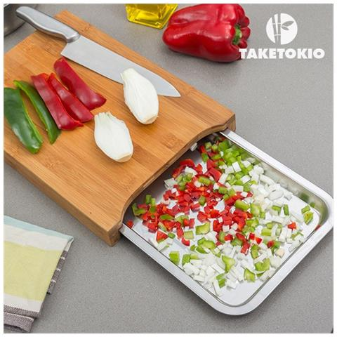 TakeTokio - Tagliere Da Cucina In Bambù Con Vassoio - ePRICE