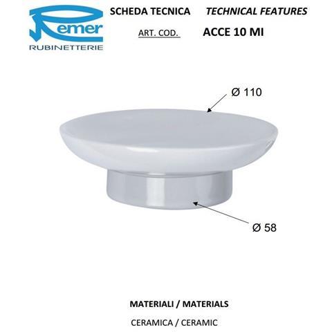 Portasapone Bagno In Ceramica.Remer Ricambio Piattino Portasapone Serie Epoca Ceramica