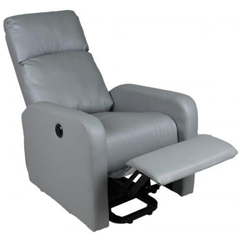 ws design - Poltrona Relax Samoa Ecopelle Grigio Recliner Anziani ...