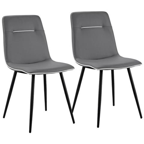 B.H.D - Valerie - Set di 2 sedie moderne - Finta Pelle - Colore ...