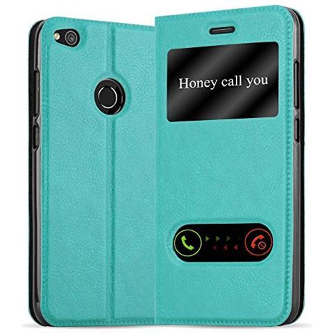 Cadorabo Custodia Libro Per Huawei P8 Lite 2017 In Turchese Menta - Con Funzione Stand E Chiusura Magnetica - Portafoglio Cover Case Wallet Book Etui ...
