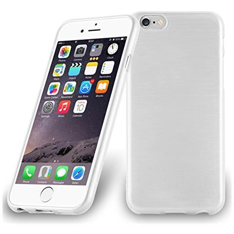 Cadorabo Custodia Per Apple Iphone 6 / Iphone 6s In Argento - Morbida Cover Protettiva Sottile Di Silicone Tpu Con Bordo Protezione - Ultra Slim Case ...