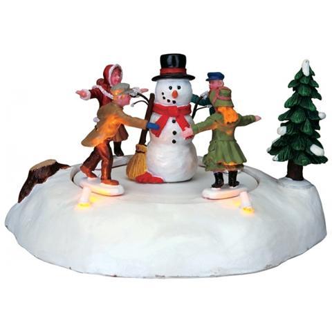 Albero Di Natale 852 Bambini.Lemax Pupazzo Di Neve Con Bambini The Merry Snowman Eprice